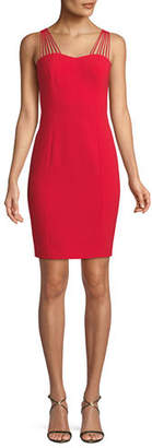 Elie Tahari Owen Strappy-Sweetheart Cocktail Dress
