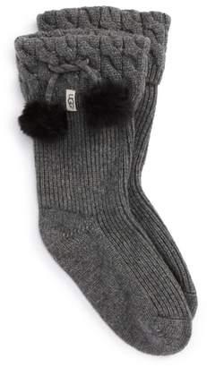 UGG UGGpure(TM) Pompom Short Rain Boot Sock
