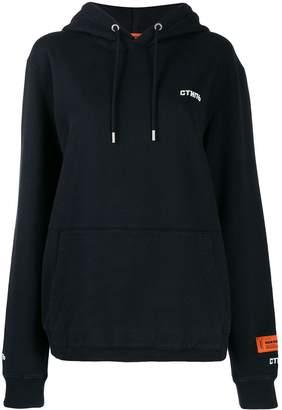 Heron Preston logo patch hoodie