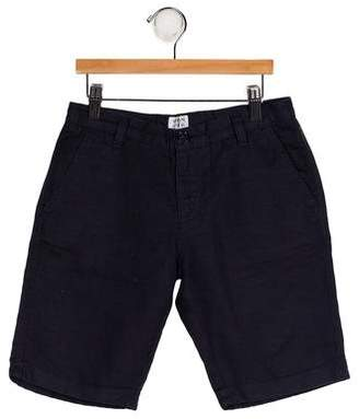 Armani Junior Linen Blend Shorts
