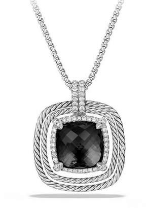 David Yurman 24mm Châtelaine® Spiraled Bezel Necklace with Diamonds