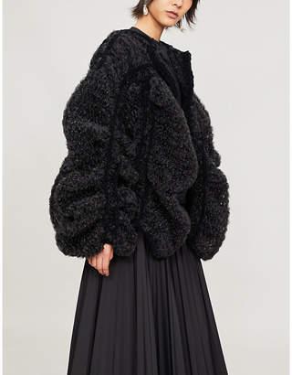 Noir Kei Ninomiya Oversized tulle jacket