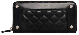 Freida Rothman Quilted Leather Zip Around Wallet