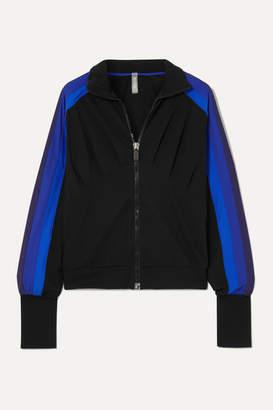 NO KA 'OI NO KA'OI - Powerhouse Striped Stretch Track Jacket - Blue