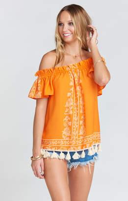 Show Me Your Mumu Woodstock Tassel Tunic ~ Nomad Blintz Clementine