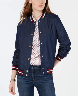Tommy Hilfiger Cotton Button-Up Varsity Jacket