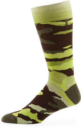 Neiman Marcus Men's Space-Dyed Camo Socks