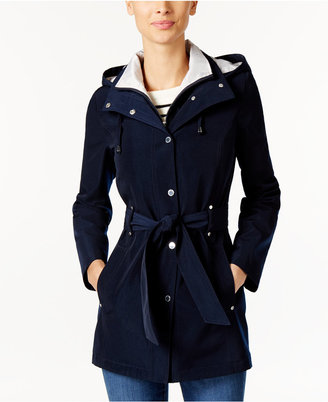 Nautica Hooded Belted Raincoat $150 thestylecure.com