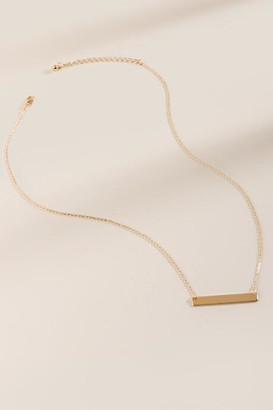 francesca's Helen Delicate Bar Pendant - Gold