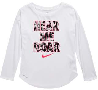 Nike Dry Hear Me Roar Modern Long Sleeve Tee