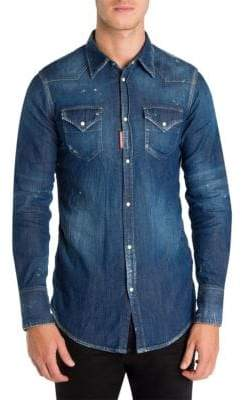 DSQUARED2 Western Denim Button-Down Shirt