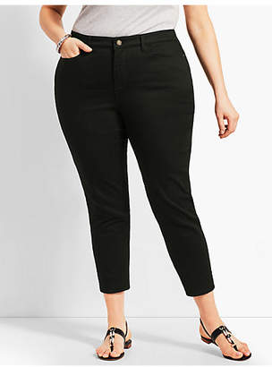 Talbots Womans Exclusive Denim Crop Jegging - Curvy Fit/Black