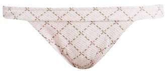 Heidi Klein Tybee Island Checked Cloque Bikini Briefs - Womens - Pink