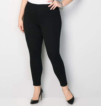 Avenue Pull-On Knit Jean in Black