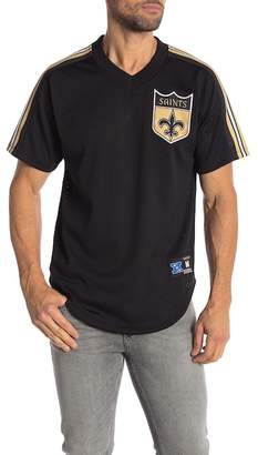 Mitchell & Ness New Orleans Saints Winning Team Mesh V-Neck Tee