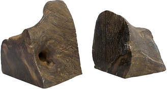 One Kings Lane Vintage Petrified Wood Bookends - G3Q Designs