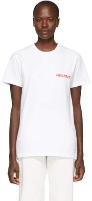 Helmut Lang SSENSE Exclusive White and Red Brian Roettinger Logo Hack T-Shirt