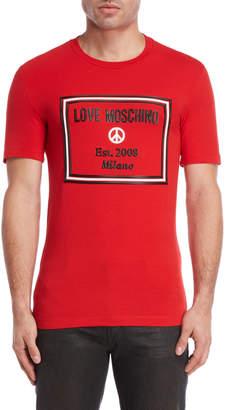 Love Moschino Box Logo Applique Tee