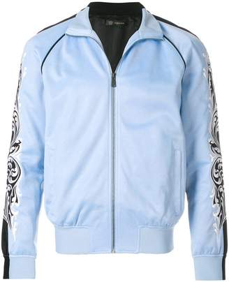 Versace embroidered sleeve bomber jacket