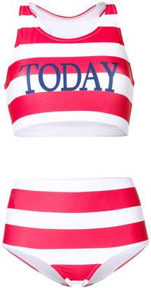 Alberta Ferretti striped two-piece swimsuit