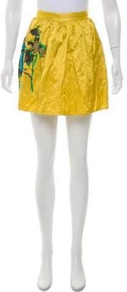 Elizabeth and James Pleated Mini Skirt