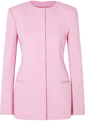 Off-White Crepe Blazer - Baby pink