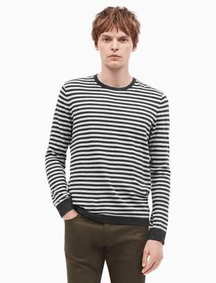 Calvin Klein cotton cashmere striped sweater