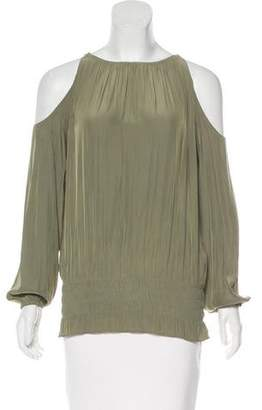 Ramy Brook Gathered Cold-Shoulder Top