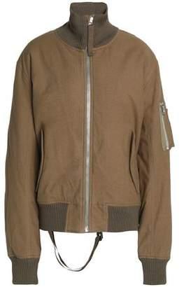 Helmut Lang Brushed-Cotton Bomber Jacket