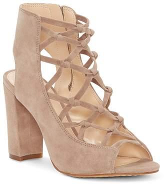 Vince Camuto Women's Stesha Caged Suede Block Heel Sandals