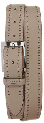Ted Baker Havan Brogue Leather Belt