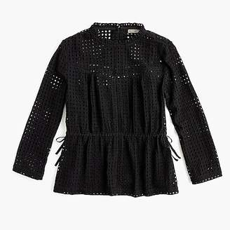 J.Crew Point Sur eyelet top