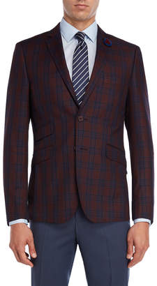 English Laundry Burgundy Plaid Sport Coat