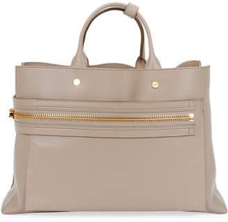 Tom Ford Leather Big Zip Satchel Bag