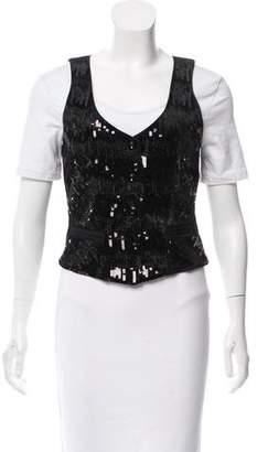 Diane von Furstenberg Yvette Sequins Vest