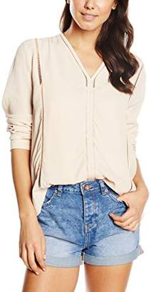 Ange Women's Plain Long Sleeve Blouse - - (S)