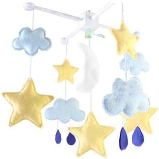 Black Temptation DIY Nursery-Mobiles For Crib Decorations Toy, Need Sewing, Star