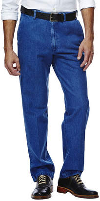 Haggar Work to Weekend Classic-Fit Flat-Front Khakis