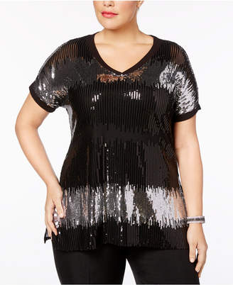 INC International Concepts I.n.c. Plus Size Sequined Tunic
