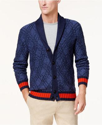 Tommy Hilfiger Men's Shawl-Collar Diamond Cardigan $149 thestylecure.com
