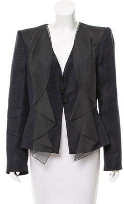 Giorgio Armani Structured Silk-Blend Evening Jacket w/ Tags
