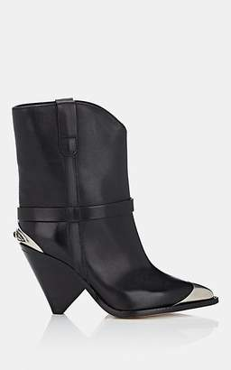 Isabel Marant Women's Lamsy Leather Ankle Boots - Black