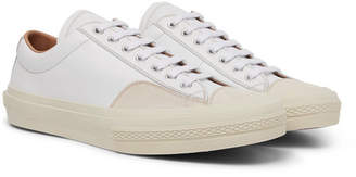 Dries Van Noten Suede-Trimmed Leather Sneakers