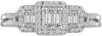 MODERN BRIDE 3/8 CT. T.W. Diamond 10K White Gold Vintage Inspired Engagement Ring