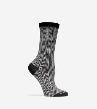 Cole Haan Microfiber Zigzag Crew Socks
