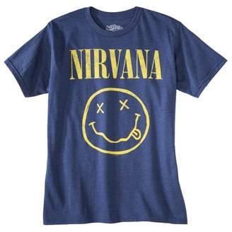 Nirvana Men's Nirvana Short Sleeve Graphic T-Shirt Denim Heather