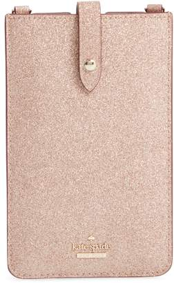 Kate Spade glitter leather iPhone crossbody case