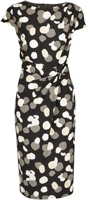 Dorothy Perkins Womens **Lily & Franc Monochrome Smudge Spot Print Bodycon Dress