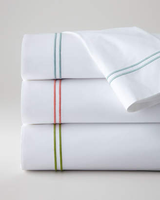 Sferra Full New Resort 200 Thread-Count Solid White Fitted Sheet