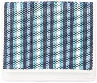 Diane von Furstenberg woven stripe card holder